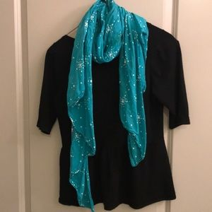 Super hip turquoise star scarf